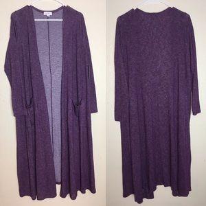 LulaRoe Purple Long Cardigan (Sarah)